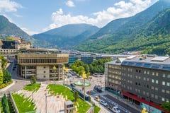 Dans les rues de la La Vella de l'Andorre Photo libre de droits