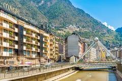 Dans les rues de la La Vella de l'Andorre Images stock