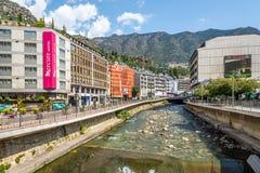 Dans les rues de la La Vella de l'Andorre Image stock