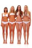 Dans les sous-vêtements blancs Photos stock