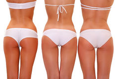 Dans les sous-vêtements blancs Photos libres de droits
