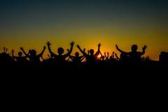 Dans med solen Arkivbild