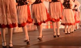 Dans met volkskostuum Stock Afbeeldingen