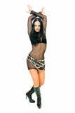 Dans in netto kleding Royalty-vrije Stock Afbeelding