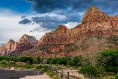 Dans ou à côté de Zion National Park, l'Utah photographie stock libre de droits