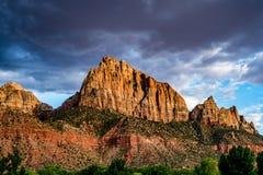 Dans ou à côté de Zion National Park, l'Utah photographie stock