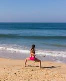 Dans på stranden av Goa Royaltyfri Fotografi