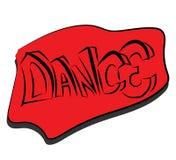 Dans, tekstontwerp Stock Afbeeldingen