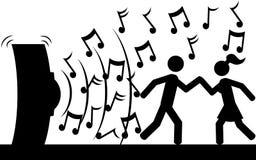 Dans till musik Arkivfoto