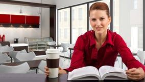 Dans un Coffeeshop Images libres de droits