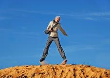Dans un saut. Photographie stock libre de droits