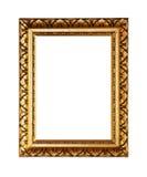 Dans un style très fleuri cadre de tableau d'or Images stock