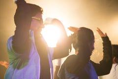 Dans underhållningklubba, indiskt folk Arkivbilder