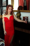 Dans une robe rouge 09 Photographie stock