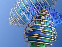 Dans une rotation avec des fractales modifiées par Digital illustration stock