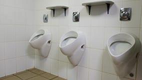 Dans une toilette publique Photo libre de droits