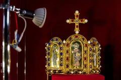 Dans Uzhgorodaccueille des couronnes d'une exposition du monde Photos libres de droits