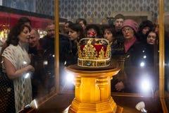 Dans Uzhgorodaccueille des couronnes d'une exposition du monde Images libres de droits