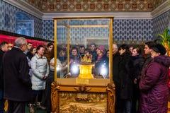 Dans Uzhgorodaccueille des couronnes d'une exposition du monde Photo stock