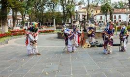 """Dans van de kleine oude mensen (""""Danza DE los Viejitos†) Stock Foto"""