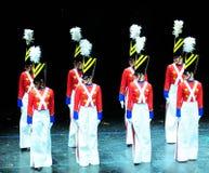 Dans van de Militairen van het Stuk speelgoed Stock Foto's
