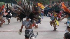 Dans van Maya Indians stock footage