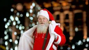 Dans van Santa Claus stock footage
