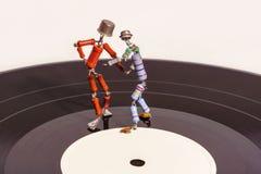 Dans van uitstekende elektronika royalty-vrije stock foto's