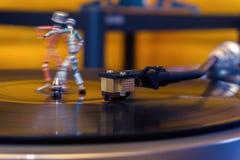 Dans van uitstekende elektronika stock foto's