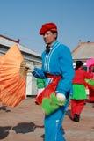 Dans Yangge in Noord-China tijdens Nieuw jaar Royalty-vrije Stock Fotografie
