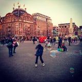 Dansa bubblor Arkivbild