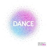 Dansa den härliga designbeståndsdelen för orientering för mall för hälsningkort Royaltyfria Bilder