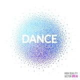 Dansa den härliga designbeståndsdelen för orientering för mall för hälsningkort Arkivfoton