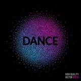 Dansa den härliga designbeståndsdelen för orientering för mall för hälsningkort Arkivfoto