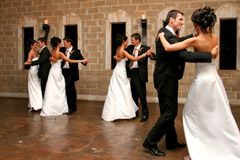 dansa double arkivfoton