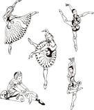 dansa för ballerinas Arkivfoton