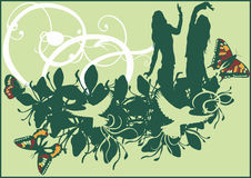 dansa för fjärilar royaltyfri illustrationer