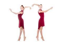 Dansa för två tonårs- flickor Arkivfoton