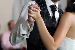 dansa första bröllop Arkivbild