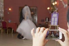 dansa första bröllop Royaltyfri Bild