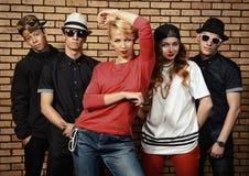 Dansa gruppen Royaltyfria Bilder