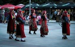 Dansa gruppen av Thessaloniki, kvinnor Fotografering för Bildbyråer