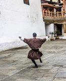 Dansa i dzongen Royaltyfri Bild