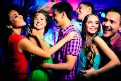 Dansa på diskot Fotografering för Bildbyråer