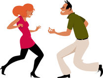 Dansa på etapp vektor illustrationer