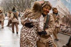 Dansa på karnevalet ståta, Stuttgart Fotografering för Bildbyråer