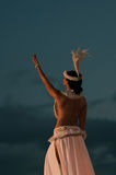 Dansa polynesianen Royaltyfri Fotografi