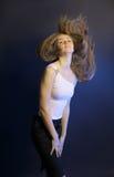 dansa sexig kvinna fotografering för bildbyråer
