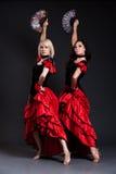 dansa sexiga spanska kvinnor Fotografering för Bildbyråer