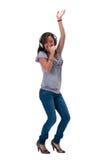 dansa som är lyckligt arkivbilder